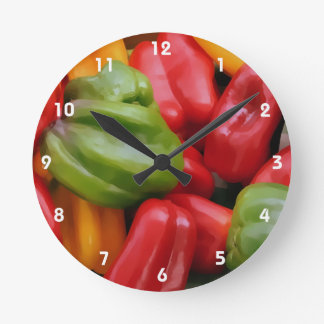 COLORED BELLS 2 ROUND CLOCK