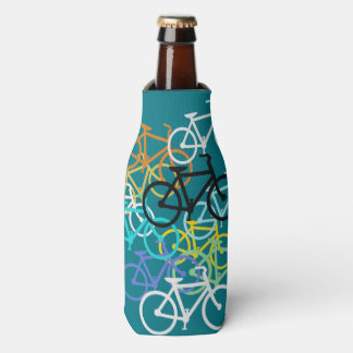 Colored Bicycles Bottle Cooler