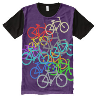 Colored Bikes. With your color. All-Over-Print T-Shirt