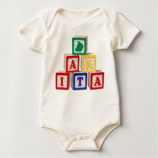 Colored blocks baby bodysuit
