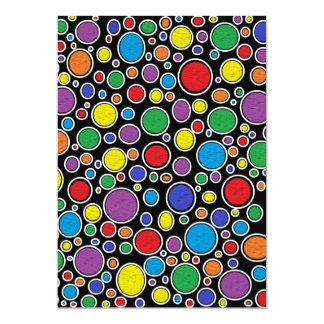 Colored Bubbles Black Card