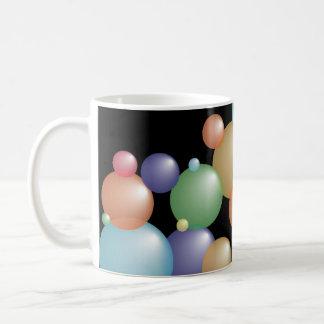 Colored Bubbles Black Coffee Mug