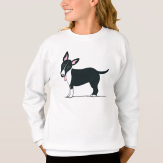 Colored Bull Terrier Black/White Off-Leash Art™ Sweatshirt