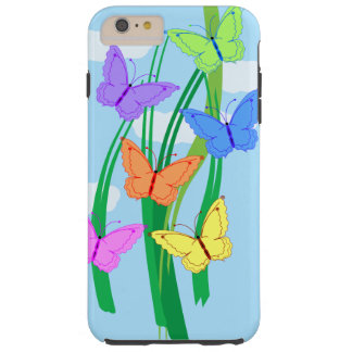 Colored Butterflies and Sky iPhone 6/6s Plus Tough iPhone 6 Plus Case