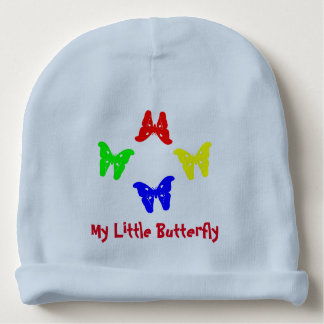 Colored Butterflies Baby Beanie