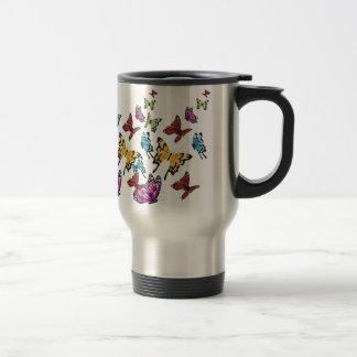 Colored Butterflies Spring Travel Mug