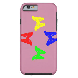 Colored Butterflies Tough iPhone 6 Case