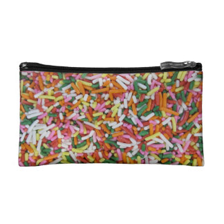 colored Candy sprinkes Texture Template Cosmetic Bag