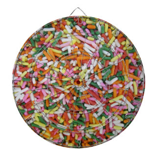 colored Candy sprinkes Texture Template Dartboard With Darts