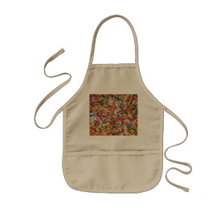 colored Candy sprinkes Texture Template Kids Apron
