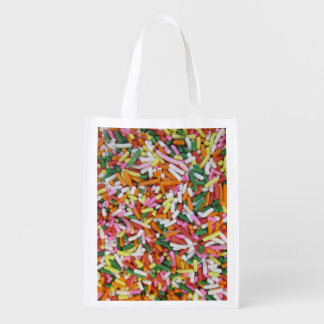 colored Candy sprinkes Texture Template Market Tote