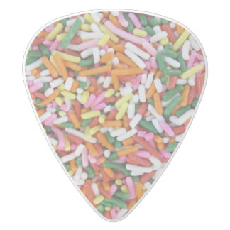 colored Candy sprinkes Texture Template White Delrin Guitar Pick
