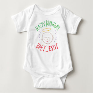 Colored Chalk - Happy Birthday Baby Jesus - Christ Baby Bodysuit