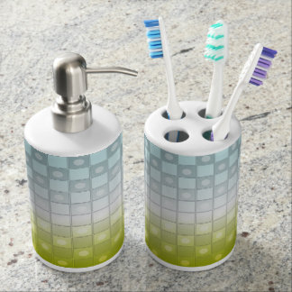 Colored Checkers Pattern Bath Sets
