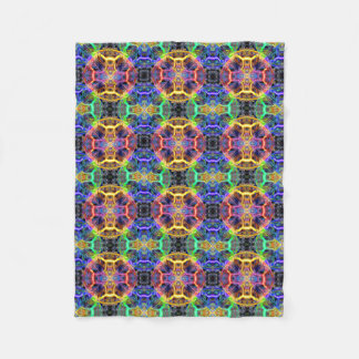 Colored Circles Fleece Blanket
