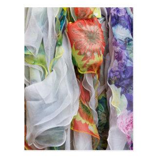 colored clothes postcard