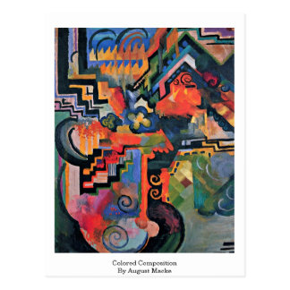 Colored Composition By August Macke Postcard