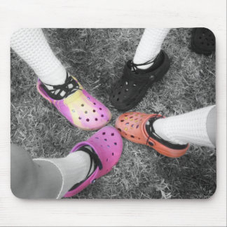 Colored Crocs & Soft Shoes Mousepad