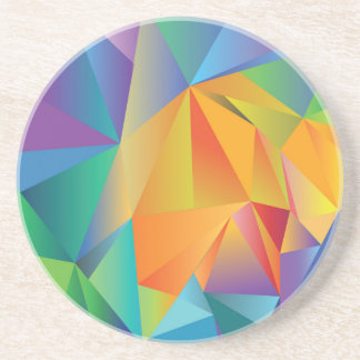 colored crystal coaster
