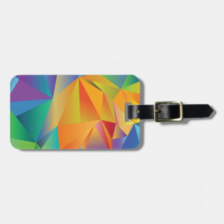 colored crystal luggage tag