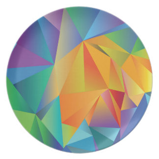 colored crystal plate