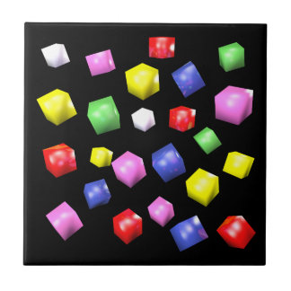 Colored cubes 3d rendered ceramic tiles