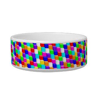 Colored cubes bowl