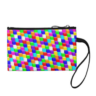 Colored cubes coin purse