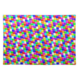 Colored cubes placemat