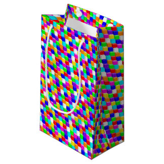 Colored cubes small gift bag