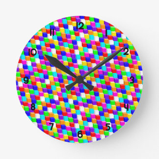 Colored cubes wall clock