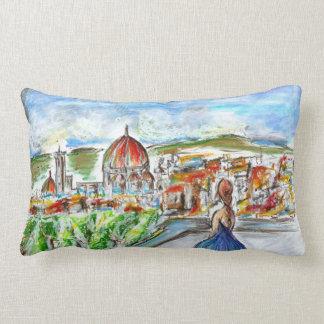 Colored decorative cushion of urban style