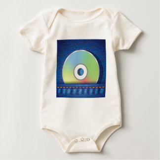 Colored disc baby bodysuit