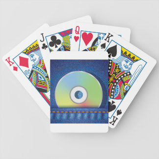 Colored disc bicycle playing cards