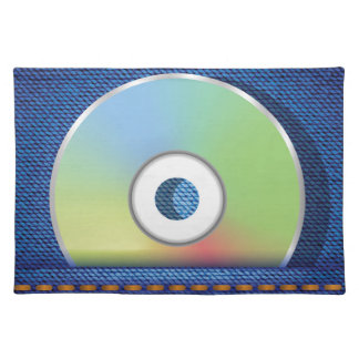 Colored disc placemat