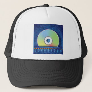 Colored disc trucker hat