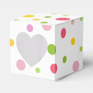 Colored Drops Favor Box