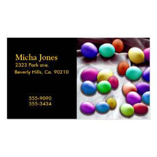 Colored Easter Egg Fun Business Card