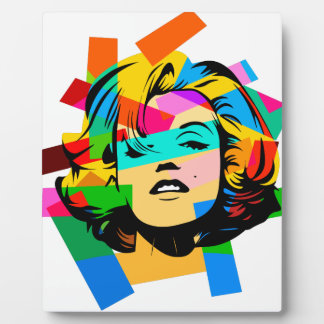 Colored Face Plaque