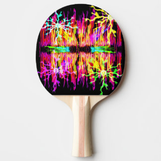 Colored Fire Sparks Ping Pong Paddle