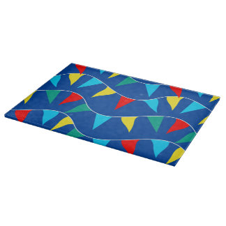 Colored flags cutting board