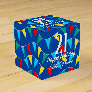 Colored flags favor box