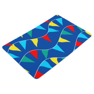 Colored flags floor mat