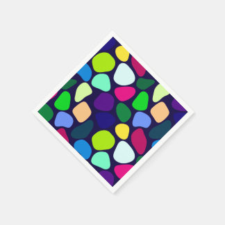Colored Flat Stone Mosaic I + your ideas Paper Napkin