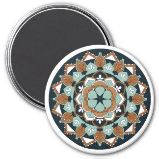Colored Floral Mandala  060517_1 Magnet
