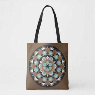 Colored Floral Mandala  060517_1 Tote Bag