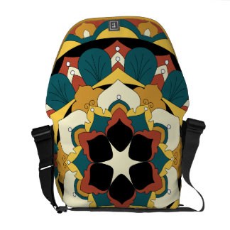 Colored Floral Mandala 060517_4 Commuter Bag