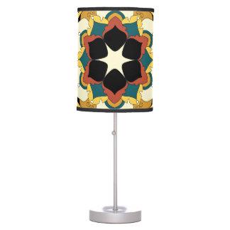 Colored Floral Mandala 060517_4 Table Lamp