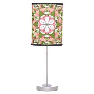 Colored Floral Mandala 061117_1 Table Lamp