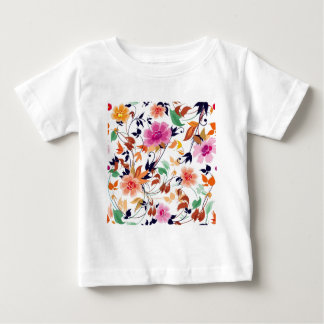 colored floral standard baby T-Shirt